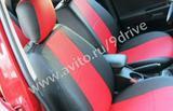 Бордовые авточехлы с логотипом для Kia Ceed, бу