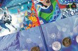 Набор позолоченных монет Сочи-2014 в буклете